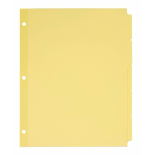 Avery 5-tab Buff Write-On Plain Tab Dividers 36pk (AVE-11501) Image 1