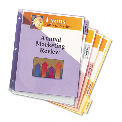 Avery 5-tab Multicolor WorkSaver Big Tab 2 Pocket Dividers (AVE-11906) - $3.01 Image 1