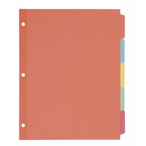 Avery 5-tab Multicolor Write-On Plain Tab Dividers 36pk (AVE-11508) Image 1