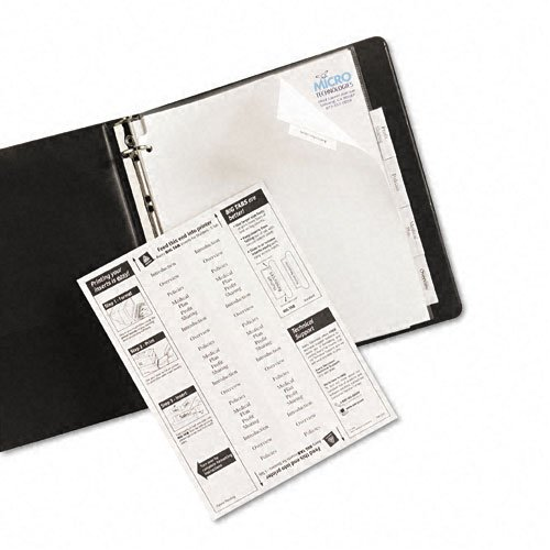 Avery 5-tab White Paper WorkSaver Big Tab Clear Dividers (AVE-11221) Image 1