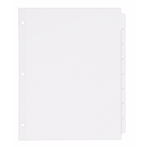 Avery 8-tab White Write-On Plain Tab Dividers 24pk (AVE-11507) Image 1