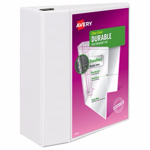 "Avery 5"" White Durable View Binders with EZD Rings 2pk (AVE-09901) Image 1"