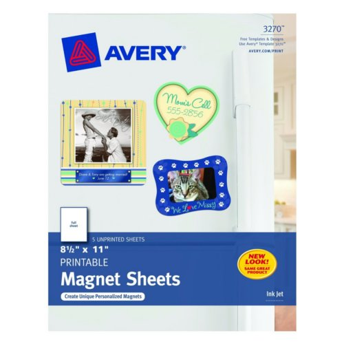 "Avery 8.5"" x 11"" Matte Printable Magnet Sheets 5pk (AVE-3270), Brands Image 1"