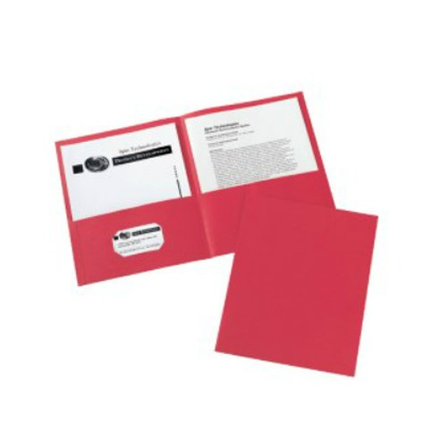 Red Two Pocket Folders Image 1