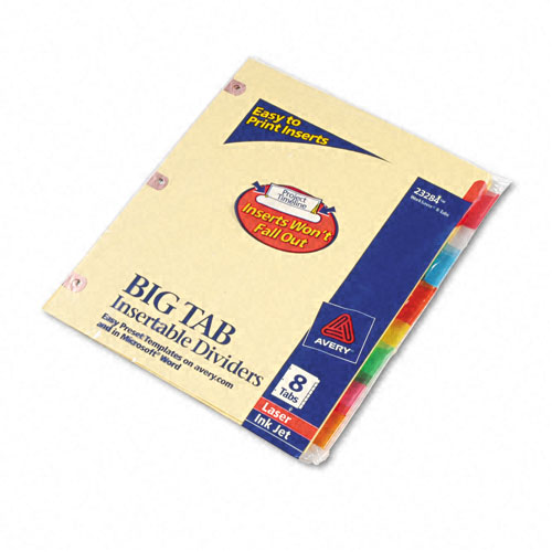 Avery 8-tab Big Tab Paper WorkSaver Multicolor Dividers (AVE-23284) Image 1