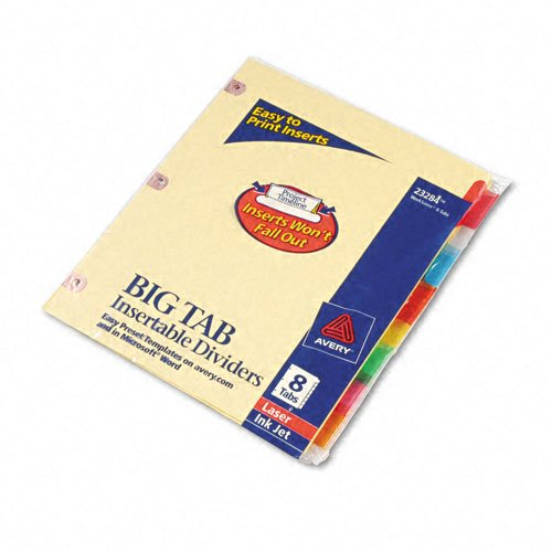 Avery 8-tab Big Tab Paper WorkSaver Multicolor Dividers (AVE-23284) - $1.58 Image 1