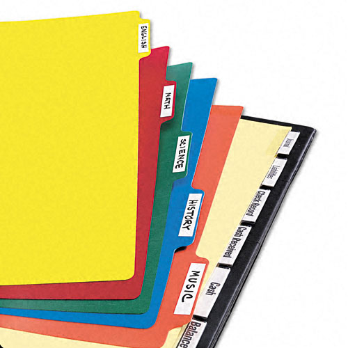New Avery 8-tab Multicolor Plastic Index Tab Dividers (1