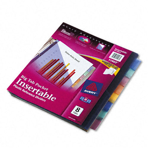 Avery 8-tab Multicolor WorkSaver Big Tab Pocket Dividers (AVE-11903) Image 1
