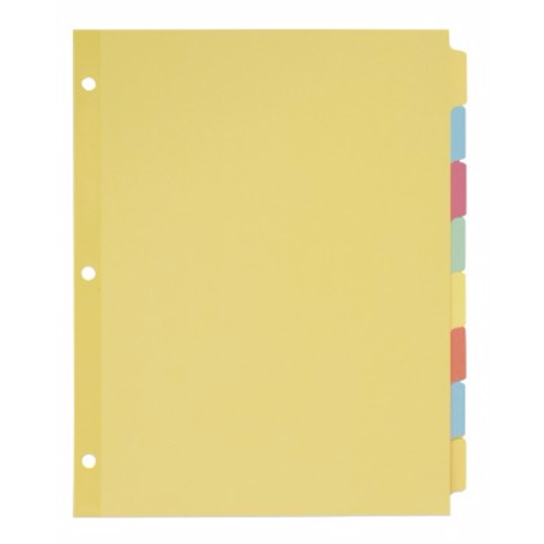 Avery 8-tab Multicolor Write-On Plain Tab Dividers 24pk (AVE-11509) Image 1