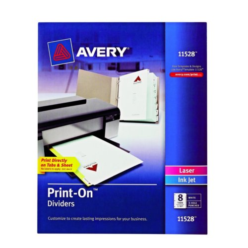 Avery Label Dividers 8 Tab Template Image 1