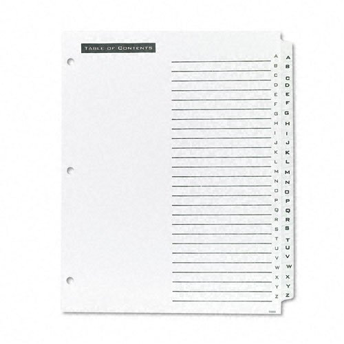 Avery A-Z tab White Office Essentials Table 'N Tabs Dividers (AVE-11676) Image 1