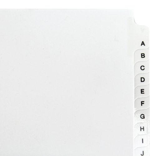 "Avery A-Z White Legal 11"" x 8.5"" Style Collated Dividers (AVE-01400) - $3.06 Image 1"