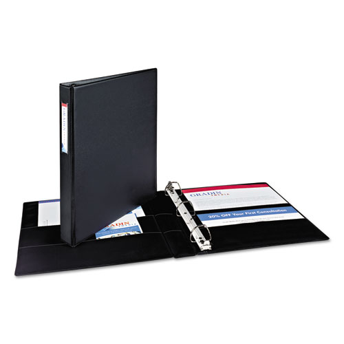 Avery Black Durable EZD Ring Binders with Label Holders (AVEDUSRBLHBK) Image 1