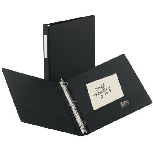 Avery Black Economy Round Ring Binders with Label Holders (AVEERRBLHBK) Image 1