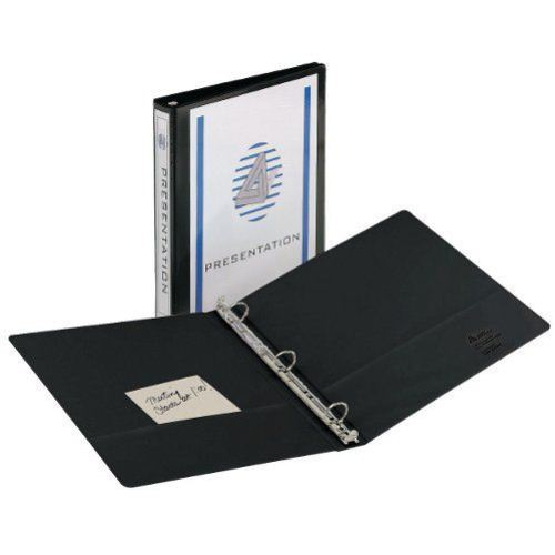 Avery Black Economy View Round Ring Binders (12pk) (AVEEVRRBBK) Image 1