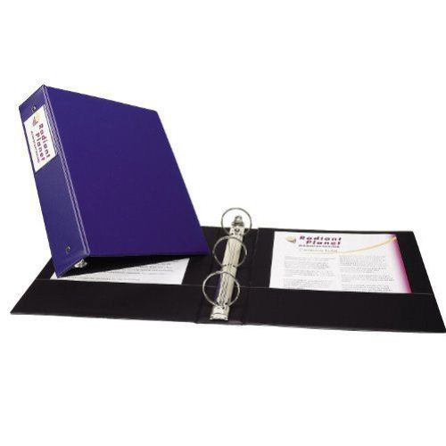 Avery Blue Economy Round Ring Binders with Label Holders (12pk) (AVEERRBLHBL) Image 1