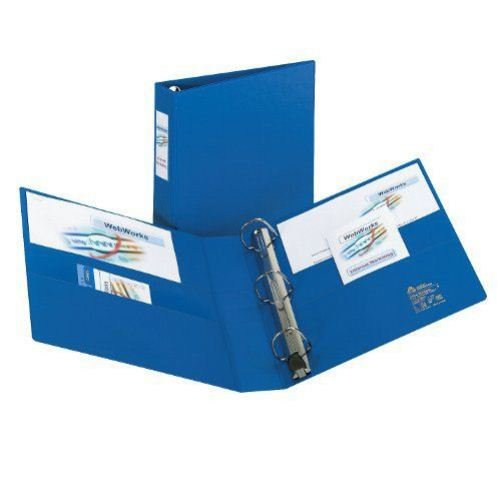 Avery Blue One Touch EZD Binders with Label Holders (AVEOTEZDRBLHBL) Image 1