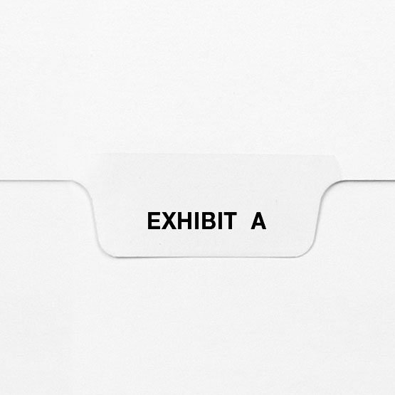 Avery Style Letter Size Exhibit Individual Letter Bottom Tab Legal Indexes (HCMLTG33) Image 1