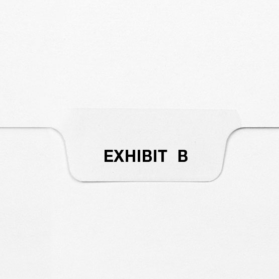 EXHIBIT B - Avery Style Letter Size Bottom Tab Legal Indexes - 25pk (HCM27752) Image 1