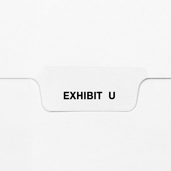 EXHIBIT U - Avery Style Letter Size Bottom Tab Legal Indexes - 25pk (HCM27771) Image 1