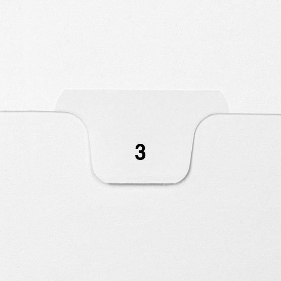 3 - Avery Style Single Number Letter Size Bottom Tab Legal Indexes - 25pk (HCM70003) - $4.75 Image 1
