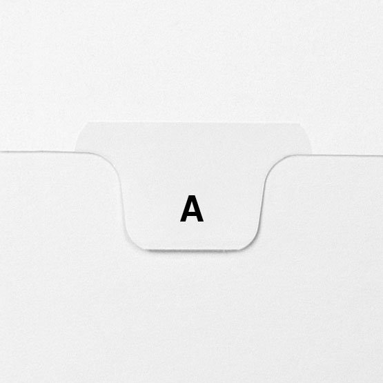 A - Avery Style Letter Size Bottom Tab Legal Indexes - 25pk (HCM17701), MyBinding brand Image 1