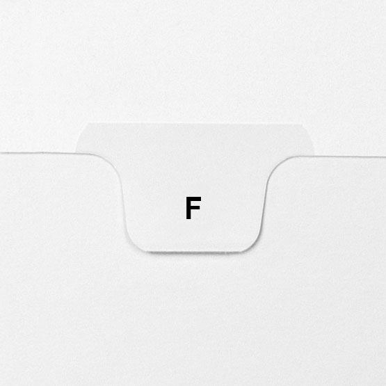 F - Avery Style Letter Size Bottom Tab Legal Indexes - 25pk (HCM17706), Index Dividers Image 1