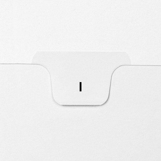 I - Avery Style Letter Size Bottom Tab Legal Indexes - 25pk (HCM17709) Image 1