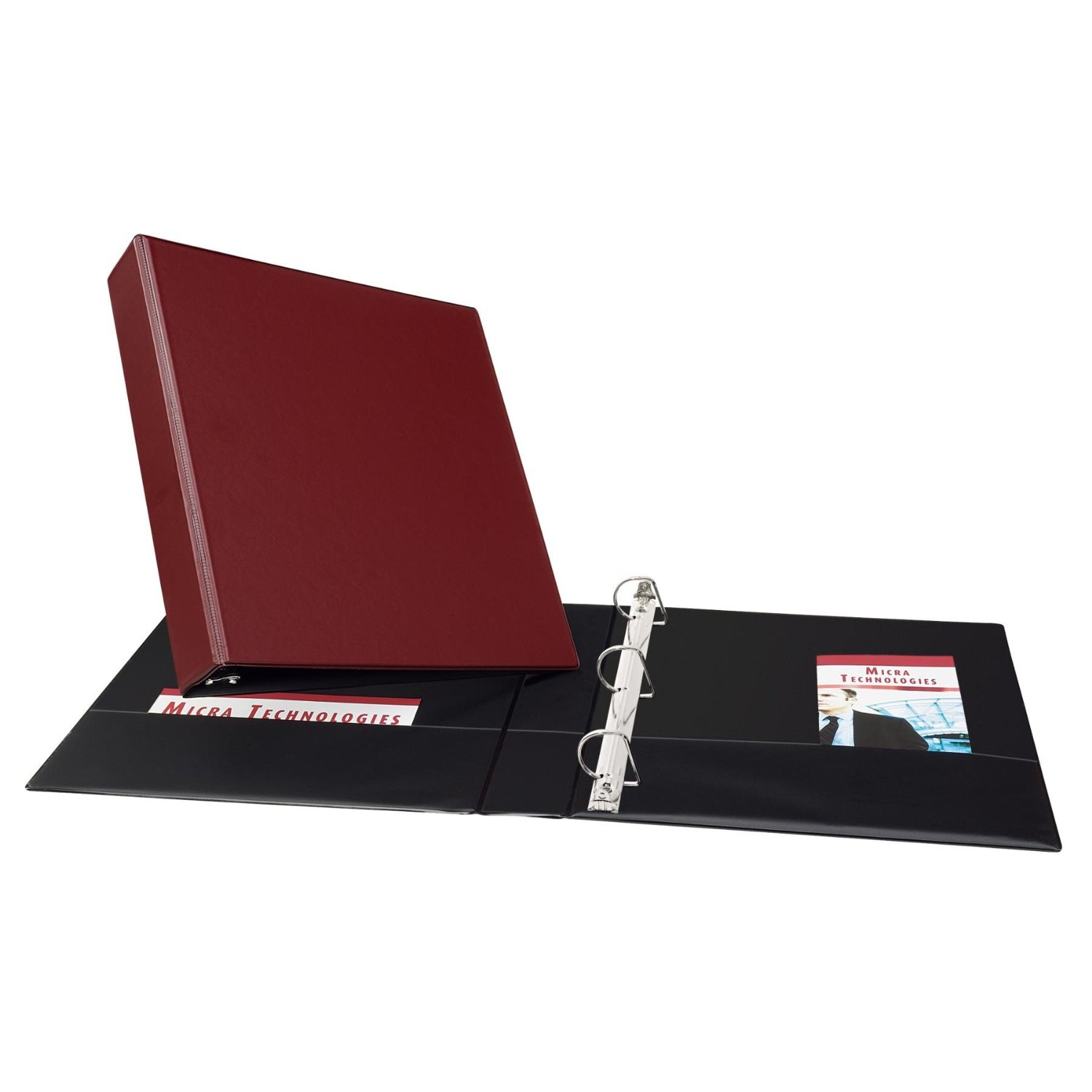 Avery Burgundy Durable Slant Ring Binders (AVEDUEZBBG) Image 1
