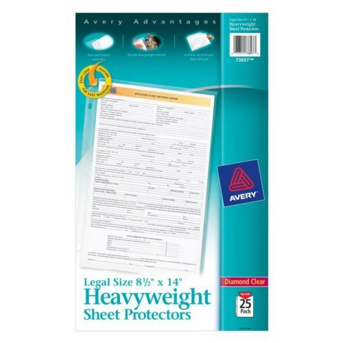"Avery Clear 8.5"" x 14"" Legal Size Heavyweight Top-Load Sheet Protectors 25pk (AVE-73897) Image 1"