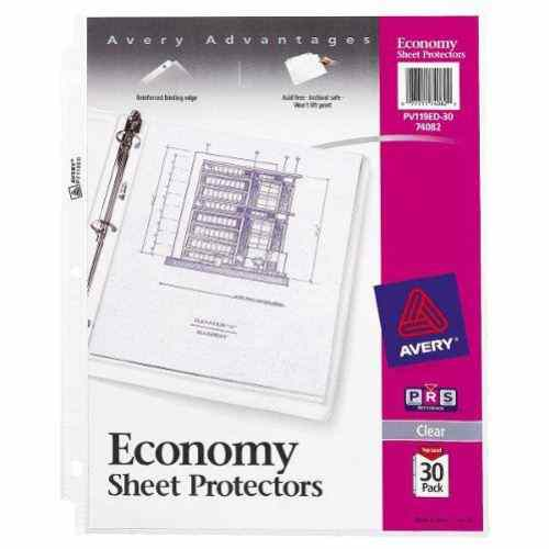 Avery Clear Economy Weight Sheet Protectors 30pk (AVE-74082) Image 1