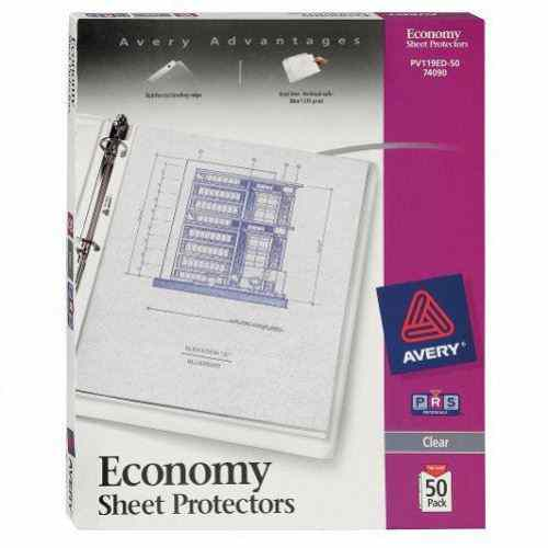 Avery Clear Economy Weight Sheet Protectors 50pk (AVE-74090) Image 1