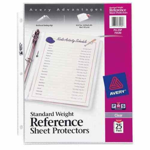 Avery Clear Standard Weight Sheet Protectors 25pk (AVE-75530) Image 1