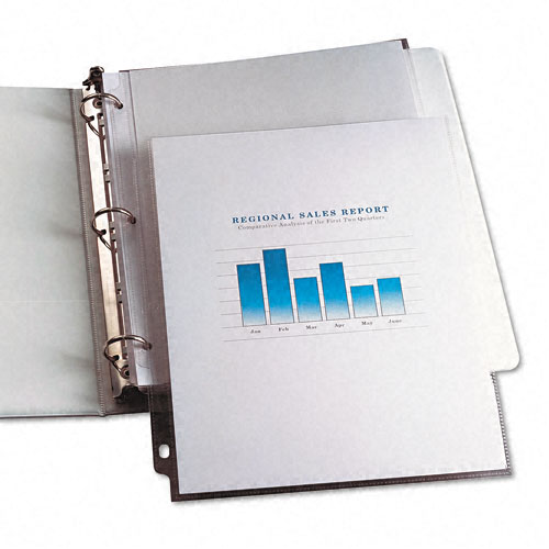 Clear Vinyl Sheet Protectors for Binders Image 1