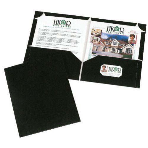 Avery Corner Lock Two Pocket Folder Black (10pk) (AVE-47760) Image 1
