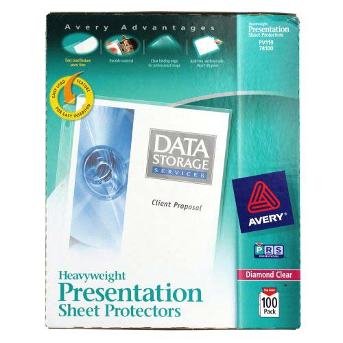 Avery Diamond Clear Heavyweight Sheet Protectors 100pk (AVE-74100) Image 1