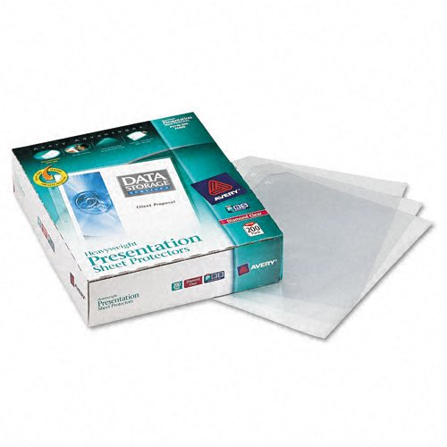 Avery Diamond Clear Heavyweight Sheet Protectors 200pk (AVE-74400) Image 1