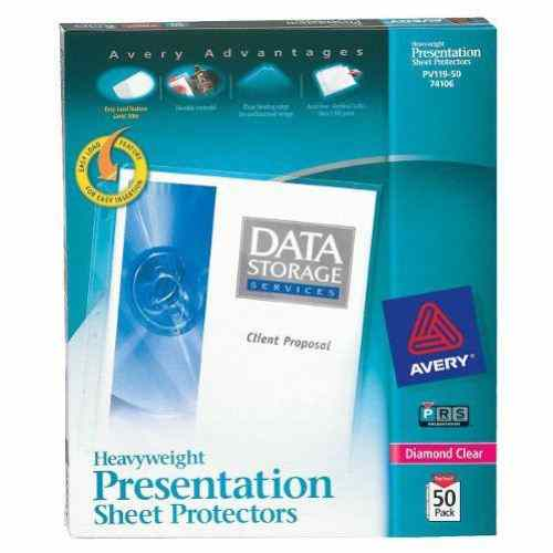 Avery Diamond Clear Heavyweight Sheet Protectors 50pk (AVE-74106) Image 1