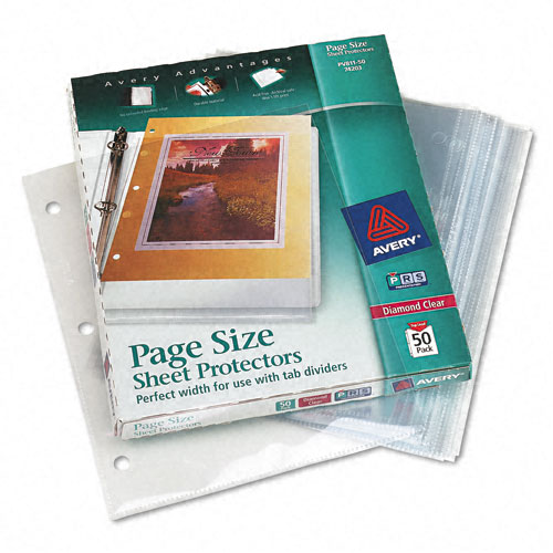 Avery Diamond Clear Heavyweight Sheet Protectors 50pk (AVE-74203) Image 1