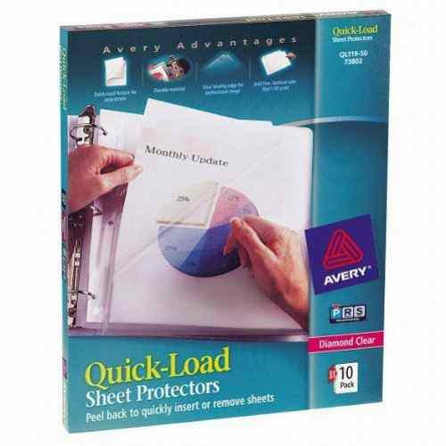 Avery Diamond Clear Quick Load Sheet Protectors 10pk (AVE-74084) - $1.68 Image 1