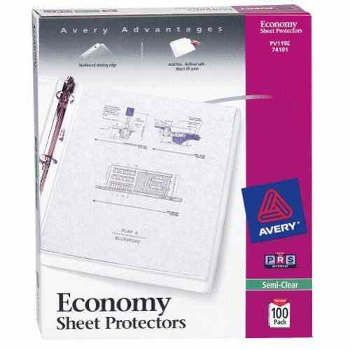 Avery Economy Weight Sheet Protectors Semi-Clear 100pk (AVE-74101) Image 1