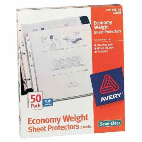 Avery Economy Weight Sheet Protectors Semi-Clear 50pk (AVE-74098) Image 1