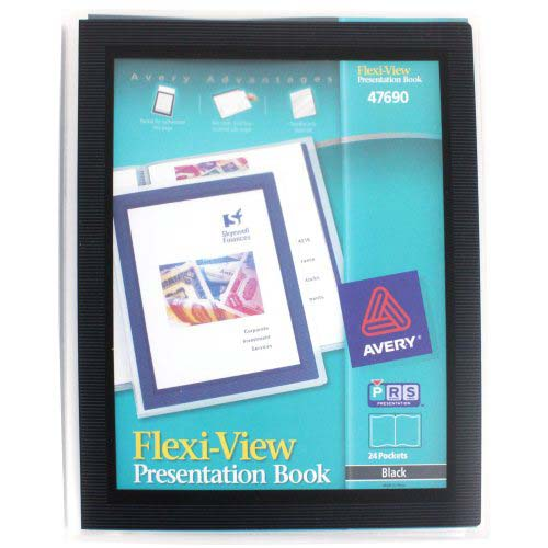 Avery Flexi-View Presentation Book Black 24pg (AVE-47690)