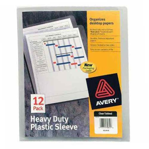 Avery Heavy Duty Plastic Sleeve Clear 12pk (AVE-72611) Image 1