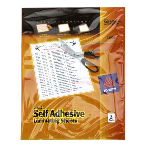 "Avery Laminating Sheets Clear 9"" x 12"" 2pk (AVE-73602) Image 1"