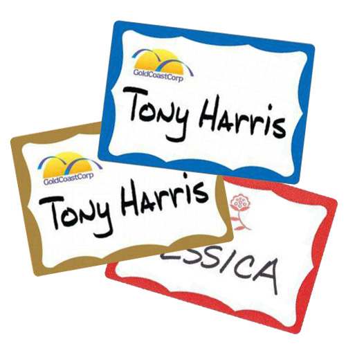 "Avery Name Badge Label 2-11/32"" x 3-3/8"" with Border (100pk) (AVE-NBLB21132) - $1.99 Image 1"