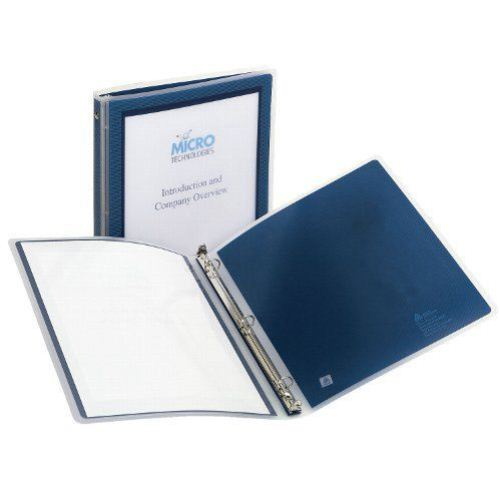 Avery Navy Blue Flexi-View Round Ring Binders (12pk) (AVEFVBNV) Image 1