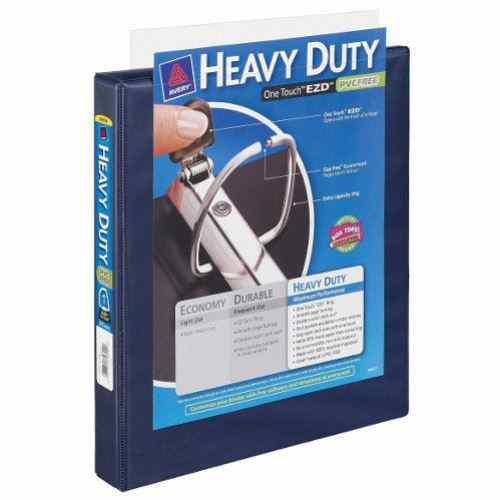 Avery Navy Blue One Touch Heavy Duty EZD View Binders (AVEOTHEZDVBNV) Image 1
