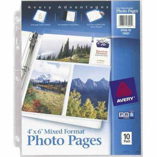 "Avery Photo Pages - Six 4"" x 6"" Photos Per Page 10pk (AVE-13401) - $4.08 Image 1"