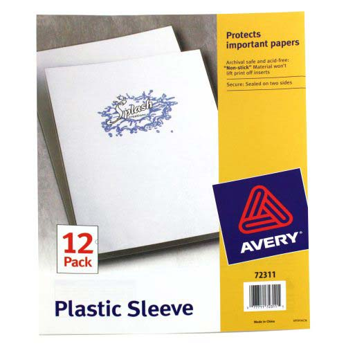 Avery Plastic Sleeve Clear 12pk (AVE-72311) Image 1